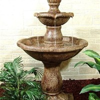 Outdoor Classics Two Tier Water Fountain