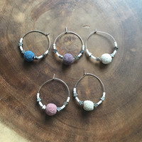 Colorful Wine Charms, Lava Rock Wine Charms, Wine Charms, House Warming Gift, BBQ Shower Gift, Hostess Gift, Wine Glass Charms