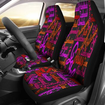 Custom-Made Holy Bible Books Black Mixed Colors Car Seat Covers