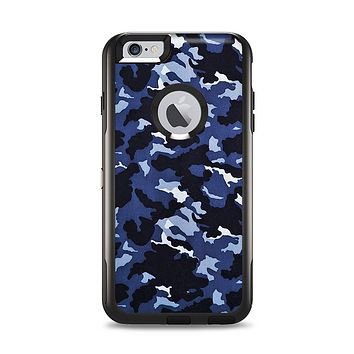 The Blue Vector Camo Apple iPhone 6 Plus Otterbox Commuter Case Skin Set