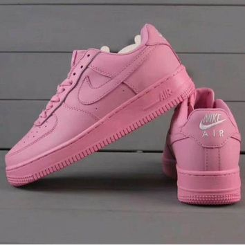 DCK7YE Nike Air Force 1 Jade AF1 Women Men Running Sport Casual Shoes Sneakers Air force pink
