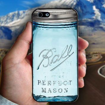 Mason Jar - Print on hard plastic case for iPhone case. Select an option