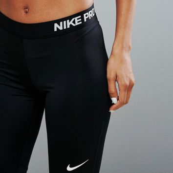 '' Nike '' Pro Exercise Fitness Gym Running Training Leggings
