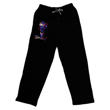 Cosmic Galaxy Einstein - E equals mc2 Adult Lounge Pants - Black by TooLoud