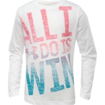 Under Armour Girls' All I Do Is Win Graphic Long Sleeve Shirt - Dick's Sporting Goods