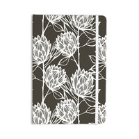 """Gill Eggleston """"Protea Graphite White"""" Brown Flowers Everything Notebook"""