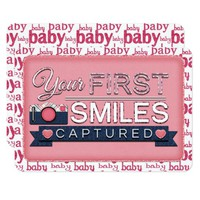Baby Girl First Smiles JOURNAL CARD