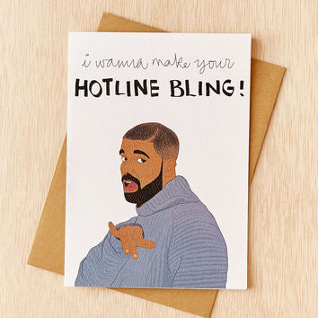 Tay Ham Hotline Bling Card - Urban Outfitters