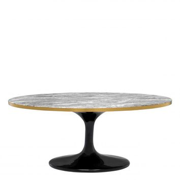 Oval Gray Marble Coffee Table | Eichholtz Parme
