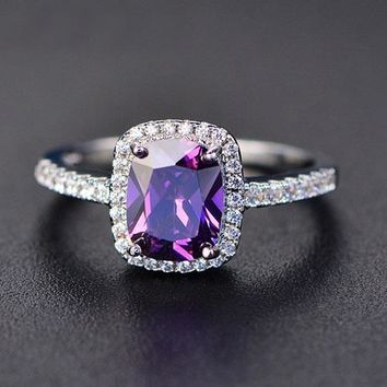 Vintage Anniversary Amethyst Ring - February