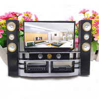 1 Pcs Mini Hi-Fi 1:6 TV Home Theater Cabinet Set Combo For Barbie Doll HU