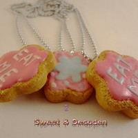 FREE U.S. Shipping! *** ICING Cookies & Eat Me Necklace *** (Choose) * Kawaii * polymer clay, ball chain