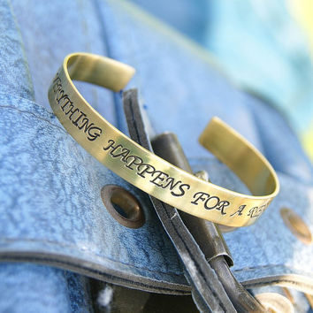 personalized bangle bracelet , brass bracelet