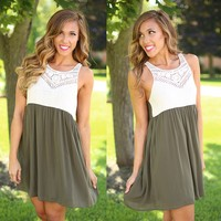 Feeling Free Dress in Olive