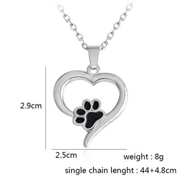 Jisensp Pet Memorial Jewelry for Women Cute Animal Dog Cat Foot Pet Paw