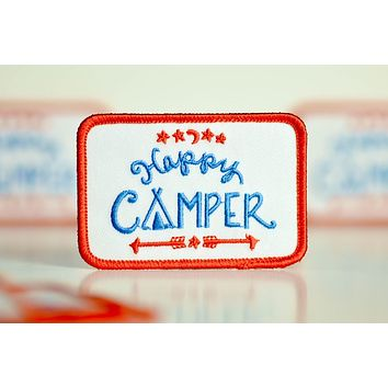 Happy Camper Embroidered Patch.