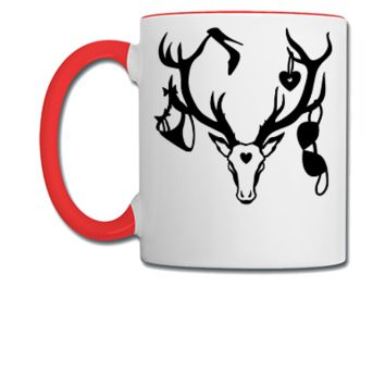 18 deer bachelor party fun funny love stag nigh Unisex Tank - Coffee/Tea Mug
