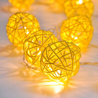 20-Pc. Canary Rattan String Lights