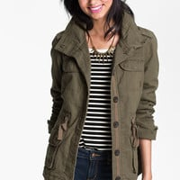Coffee Shop Faux Shearling Lined Anorak (Juniors) | Nordstrom