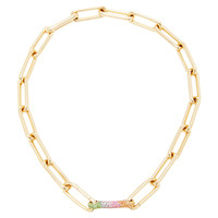 Identity Necklace With Rainbow Sapphire And Tsavorite Bar | Moda Operandi