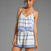 DV by Dolce Vita Roseann Mojave Printed Romper in Cream/Navy from REVOLVEclothing.com