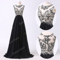 Classy Chiffon Applique Long Evening Prom Dress Party Bridesmaid Ball Gown Dress