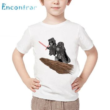 Star Wars Force Episode 1 2 3 4 5 Boys/Girls  The Darth King Design T Shirt Kids Great Casual Tops Children's Funny Cartoon Darth Vader T-Shirt,HKP5514 AT_72_6