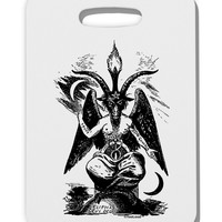 Baphomet Illustration Thick Plastic Luggage Tag by