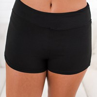 It's The Weekend Activewear Shorts (Black)