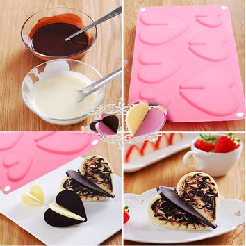Baking mold baking tools New Lovely Hearts Chocolate Mold Silicone Baking Bakeware for Christmas Party Mould