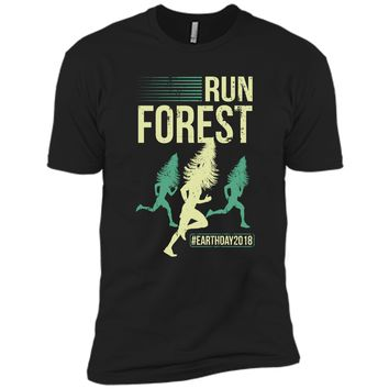 1c682610 Run Forest Earth Day Distressed Vintage T-Shirt Next Level Premi