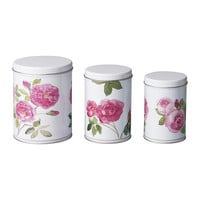 TRIPP Container with lid, set of 3, rose - IKEA