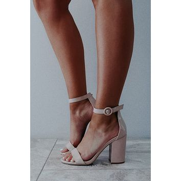 Whatever It Takes Heels: Nude