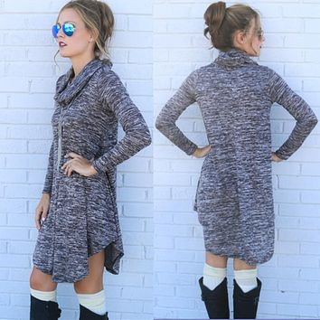 Fashion Sexy Women dresses Bodycon dress Long Sleeves Knitting Mini Dress Tunic Winter European style PHY055E