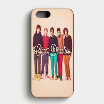 1D One Direction Logo Pink Flower iPhone SE Case