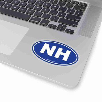 New Hampshire State Shape Sticker SOLID BLUE