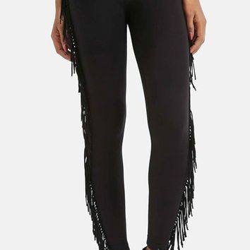Women's Topshop Fringe Leggings,