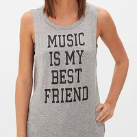 Women's Music Is My Best Friend T-Shirt in Grey by Daytrip.