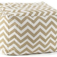 Chevron Pouf - Kids - Poufs - Ottomans - Living Room - Furniture | HomeDecorators.com