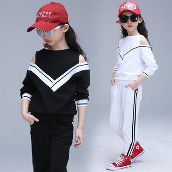 2017 New Children Sets Girl Boy Fashion Hip Hop Modern Dancewear Set Kid Dance Costume Long Sleeve Top & Pants Princess Suits