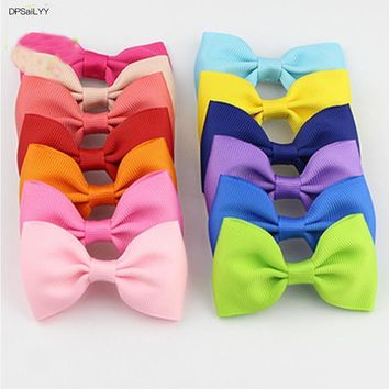 DPSaiLYY 2 PC Free Shipping Ribbon Bows Children Hairpins and Clips Gift Kids Girl 20 Colors Hair Barrettes Accessories Headwear