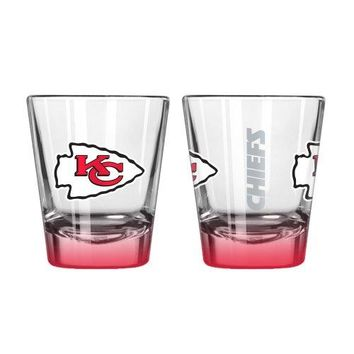 Boelter Brands NFL Kansas City Chiefs Elite Shot Glass, 2-ounce, 2-Pack
