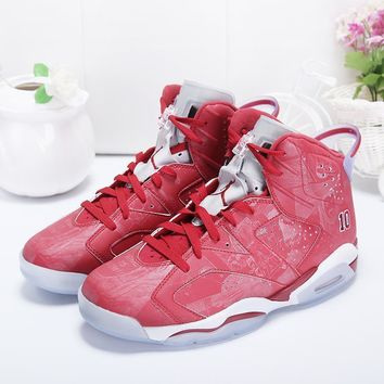 Air Jordan 6 Retro X Slam Dunk Varsity Red/varsity Red White Aj6 Sneakers 1