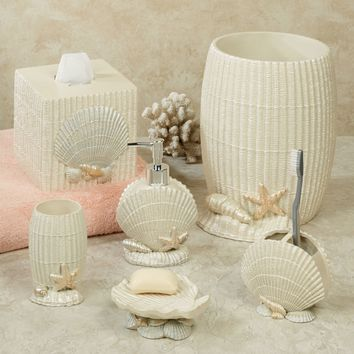 Marseille corner bakers rack from home for Seashell bathroom accessories