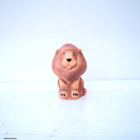 Vintage Soviet Era Small Rubber Squeaky Toy Lion