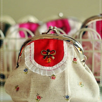 Reymi Bib Purse In Linen Shades Of Natural And Pretty Little Blossom | Luulla