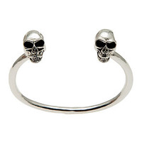 Fashionology Bracelet Skull Bangle in Silver