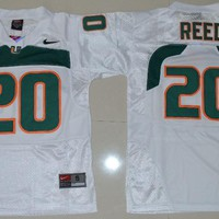 Nike  Jersey Youth Miami Hurricanes Ed Reed 20 College Ice Hockey Jerseys - S M L XL