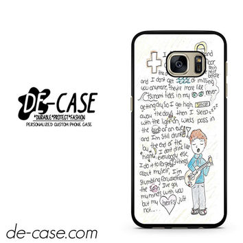 Ed Sheeran Quotes Cover DEAL-3823 Samsung Phonecase Cover For Samsung Galaxy S7 / S7 Edge