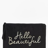 Hello Beautiful Gold Foil Make Up Bag | Boohoo